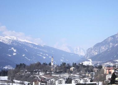 Italské středisko Cavalese v zimě