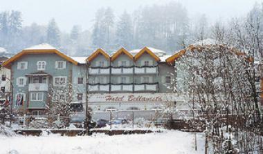 Val di Fiemme a hotel Bellavista v zimě