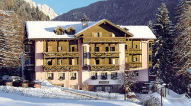 Italský hotel Canada v zimě