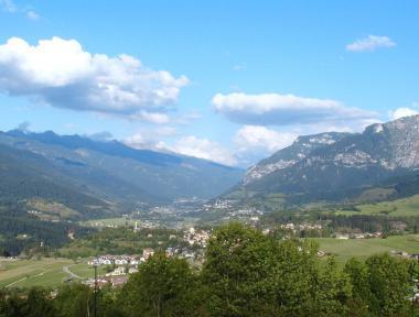 Italská vesnička Molina di Fiemme